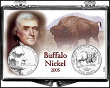 Westward Journey Jefferson Nickel Snaplock Display