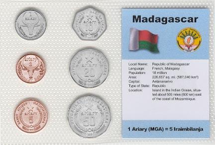 Madagascar Coin Sets