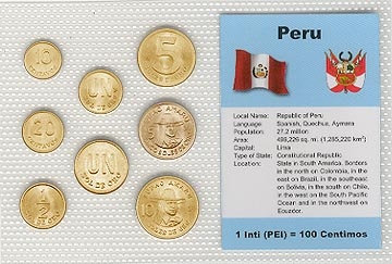 Peru Set Of 8 Uncirculated Coins