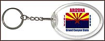 Arizona State Quarter Keychain