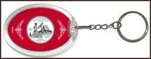 California State Quarter Keychain