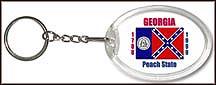 Georgia State Quarter Keychain