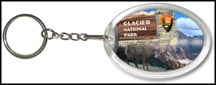 Glacier National Park Quarter Keychain