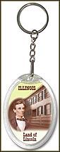 Illinois State Quarter Keychain