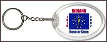 Indiana State Quarter Keychain