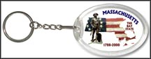 Massachusetts State Quarter Keychain