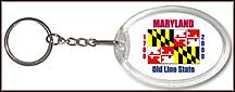 Maryland State Quarter Keychain