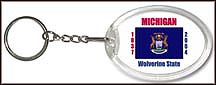 Michigan State Quarter Keychain