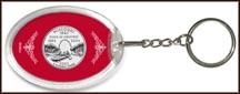 Missouri State Quarter Keychain