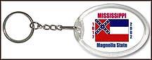 Mississippi State Quarter Keychain