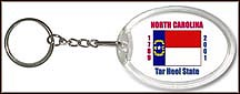 North Carolina State Quarter Keychain