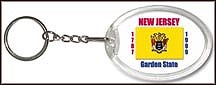 New Jersey State Quarter Keychain