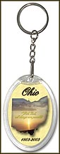 Ohio State Quarter Keychain