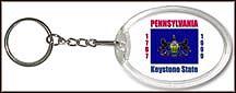 Pennsylvania State Quarter Keychain