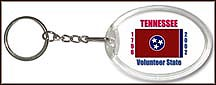 Tennessee State Quarter Keychain