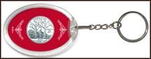 Vermont State Quarter Keychain