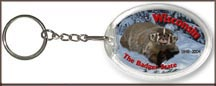Wisconsin State Quarter Keychain