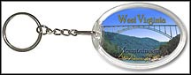 West Virginia State Quarter Keychain